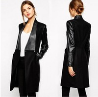 2016 Latest Design Ladies' Fashion Italian Women's Long Leather Coat