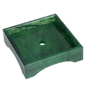 Factory OME square emerald green Marble acrylic Shower Corner Shelf Soap Dish