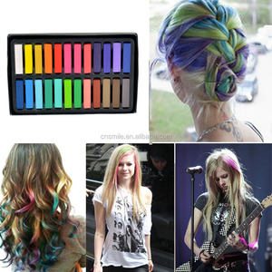 24 Non Toxic Temporary Hair Dye Colour Hair Chalk
