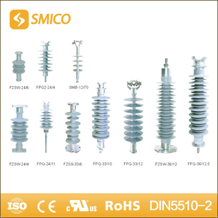 SMICO 2017 New Products FPQ Series 24KV Rated High Voltage Pin Type Insulator