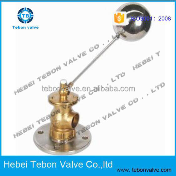 floating ball valve with brass flange thread ends auto fill water float valve