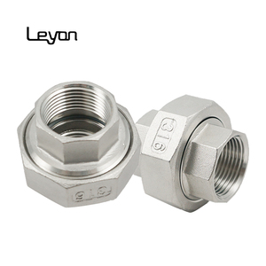 Stainless steel thread union connector din standard ss fittings unions  female threaded pipe fitting hydraulic rotary union