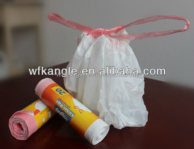 packaging type plastic drawstring garbage Bag wholesale