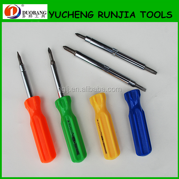 High quality impact resistance plastic handle CRV steel blade multi function 6-in-1 quick change screwdriver DB-36604-01