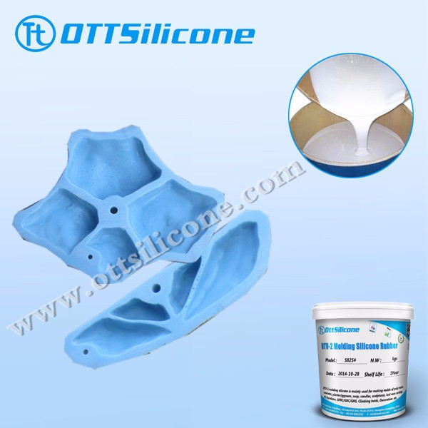 moulding silicone for climbing holds/artifical stone casting/ rtv 2 silicone rubber