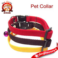 Brown Red Yellow Collars with Bell Mini Small Puppy Pet Toy Dog or Cat Collars