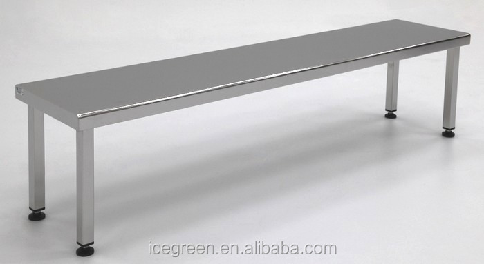 Outdoor Stainless Steel Solid Gowning Bench