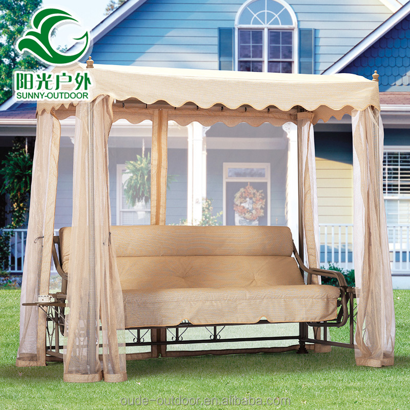 Hot sale 3 seater outdoor canopy hammock swing