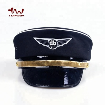 fe33d0cc77e Custom Embroidered Logo Badge Royal Air Force Pilot Police Officer Military Cap  Hat