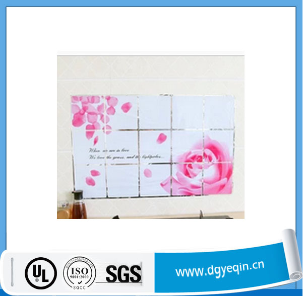 factory price removeable wall kitchen tile home decoration stickers.kitchen wall tile stickers