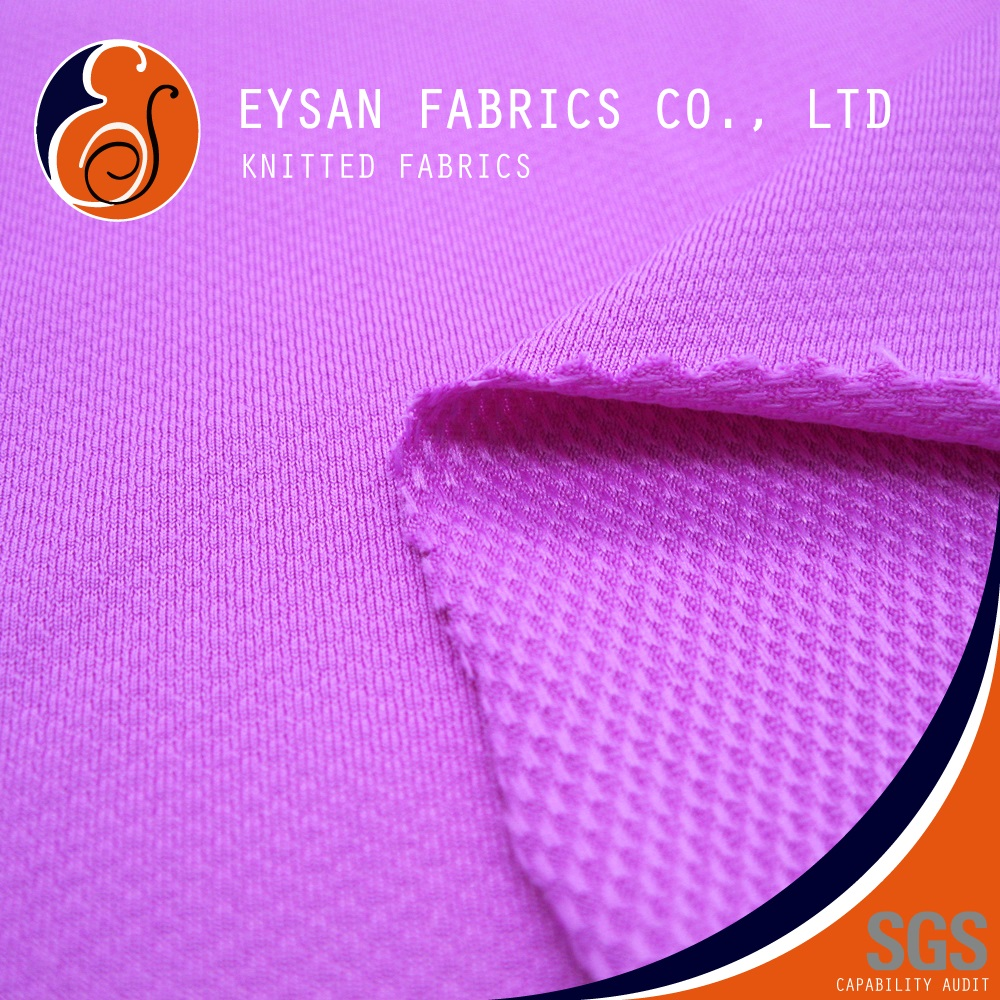 EYSAN Polyester Spandex Textured Knit 3D Baby French Terry Fabric