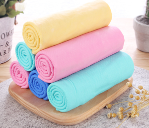 HSJ 8016N Car Roll Cloth Leather Round Towel Pva Chamois Cleaning Cloth
