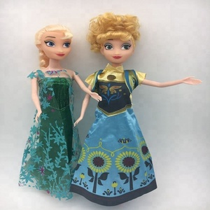 2018 Hot fashion popular 30CM Princess new anna elsa Doll Beautiful gift box Doll vinyl girl gift doll toys wholesale
