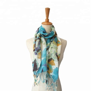 High quality 50% linen 50% cotton fashion scarf