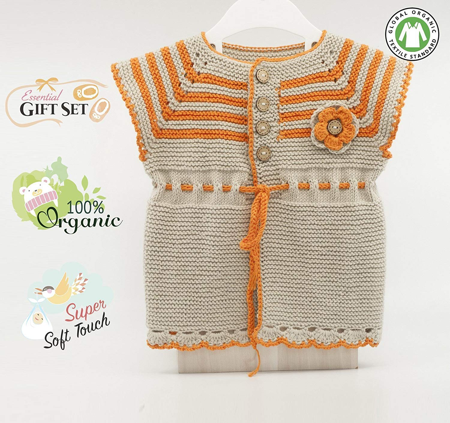 Baby Girl Sweater for Summer -%100 Organic Cotton
