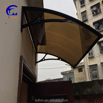 Easy Diy Polycarbonate Awning Window Bracket Rain Protection For And Balcony