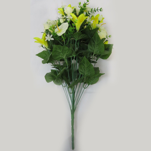 Buy cheap china small white flowers for weddings products find large supply green cream 24 heads white artificial flowers for cemetery mightylinksfo