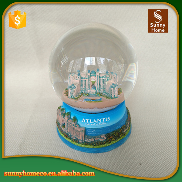 Handmade Atlantis Castle Custom Indoor Snowball Water Golbe With Resin Craft