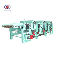 Four roller recycling machine textile waste recycling machine