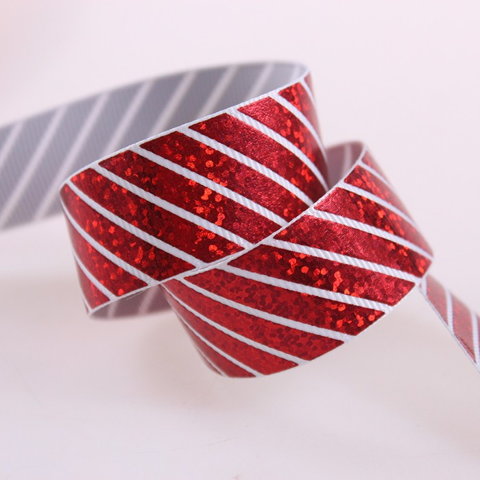 colorful striped grosgrain ribbon for gift