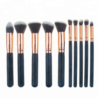 10 stücke kosmetik make-up-sets pinsel-sets für mädchen Kunsthaar Großhandel Private Label Rose Gold make-up set Werkzeuge