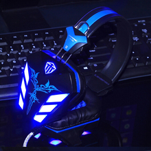 Vibration Function Deep Bass Computer Gaming Headphone Gamer Led Light Headset Earphone with Microphone for PC