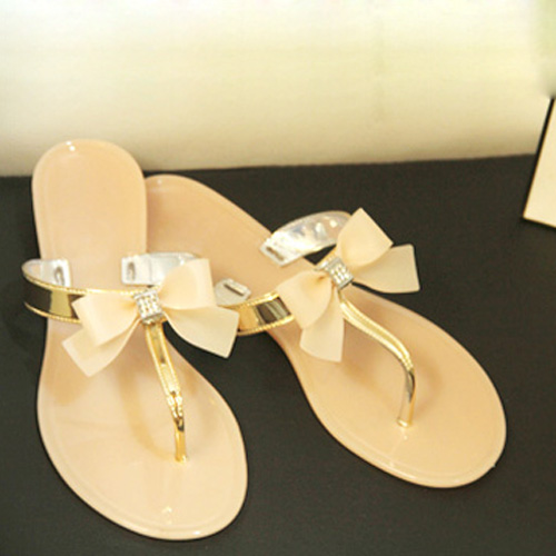 90e8305b21b7 Wholesale SAF Womens Ladies Toe Bow Diamante Jelly Summer Flat Flip ...