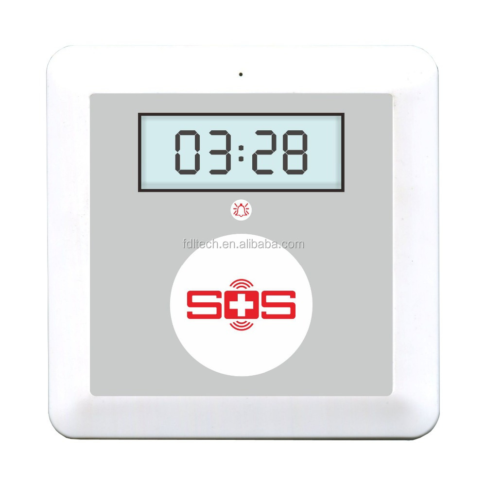 Cheap GSM wireless senior aged sos alarm system. GSM home security alarm ,GSM emergency call , GSM elderly get up monitoring ala