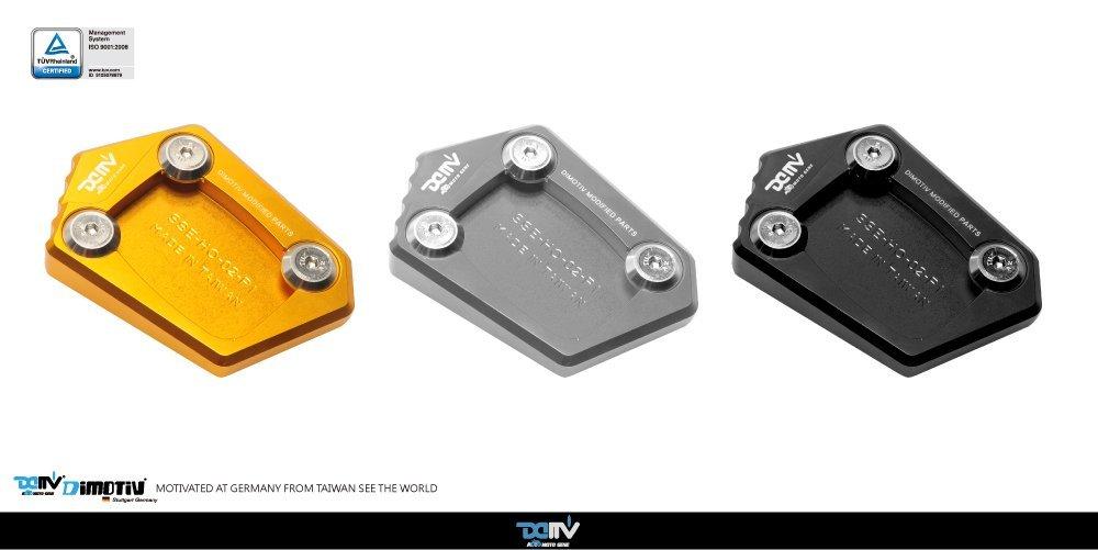 Dimotiv Side Stand Enlarger for HONDA NC700S, NC700X, NC700D INTEGRA , CB400 , CB650F , CBR250R, CBR300R, CBR500R , CBR500R , CBR600F ,CBR600F ,NM-4 , NC750S ,CB250F, CB500F/X ,CBR650F (BLACK)