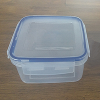 700ml Lock and lock seal Plastic food storage Square Air tight food containers