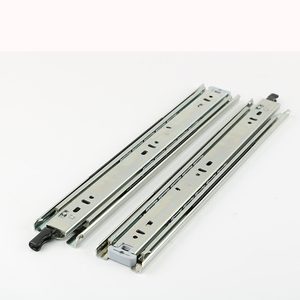 Produce one way double lock telescopic drawer slide