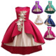 children clothes young girl kids party wear fashion latest new children vintage embroidered flower dress designs with best servi