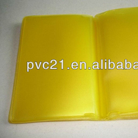 Colored PVC Credit Card Holder, PVC Card Book