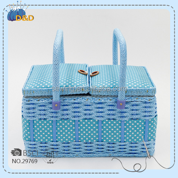 fabric craft box handmade storage boxes with plastic rattan handle household sewing basket & China Plastic Sewing Storage Box Wholesale ?? - Alibaba