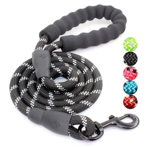 Strong Dog Leash with Comfortable Padded Handle and Highly Reflective Threads for Medium and Large Dogs