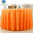 New design orange wedding table cloth factory Jacquard tablecloth