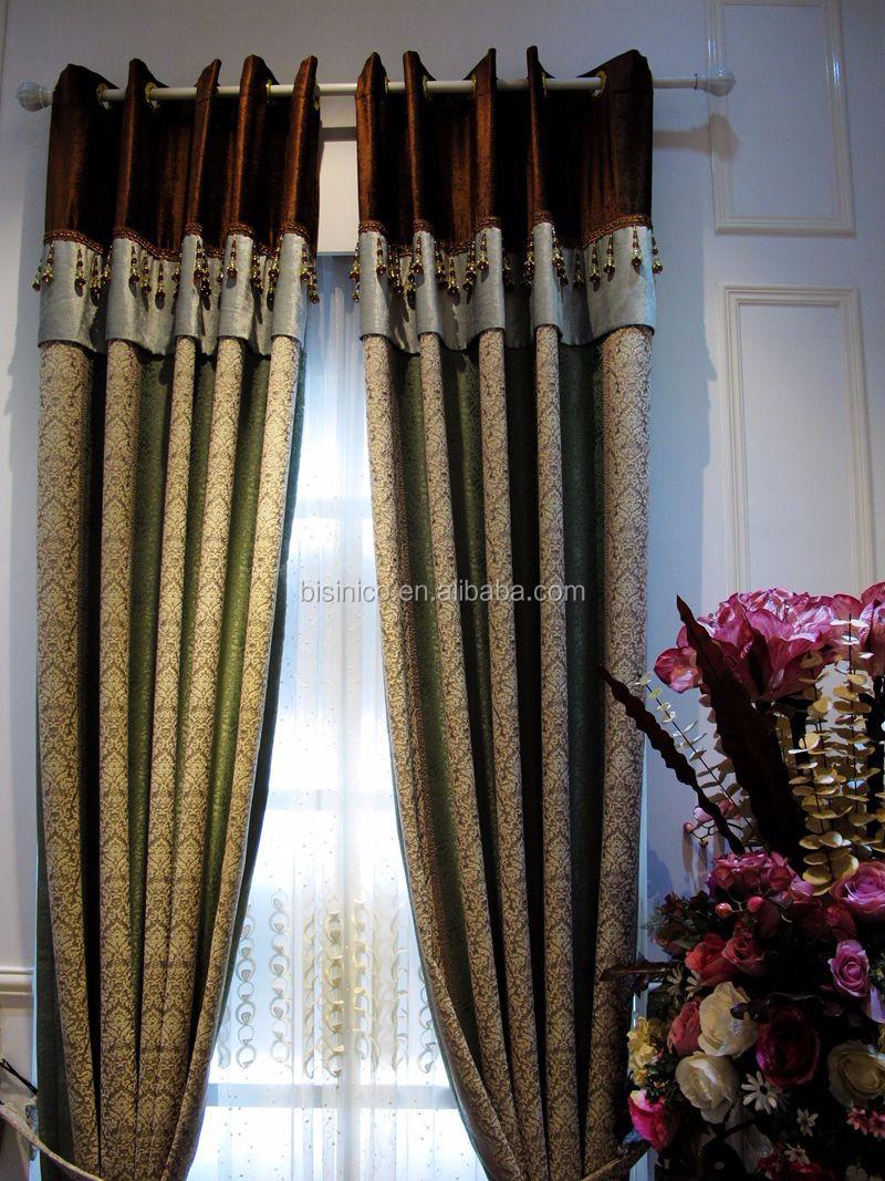 Medusa Stil Wohnzimmer Bunte Vorhange Luxus Stickerei Elegantes