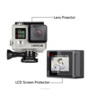 New Arrival for gopro LCD Screen Protector + Waterproof Housing Glass Lens Protector Film Ultra Clear for gopro Hero 4