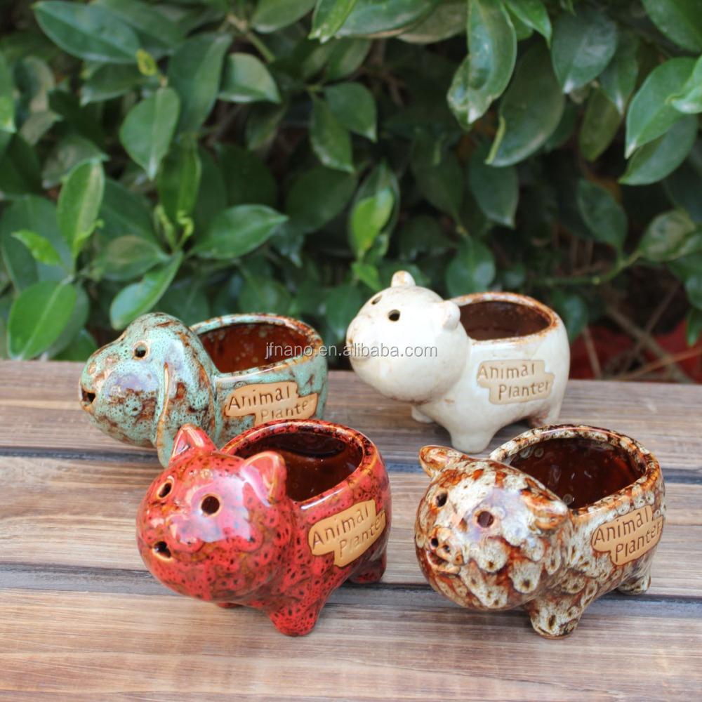Gro handel cartoon verschiedenen tier pflanzer keramik for Tier blumentopf