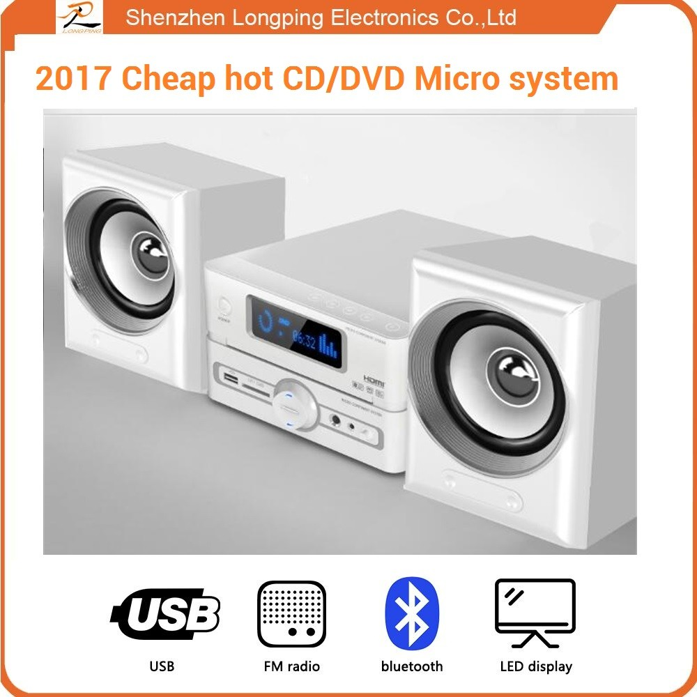 Micro CD/VCD/DVD home theater System with FM Radio/Bluetooth