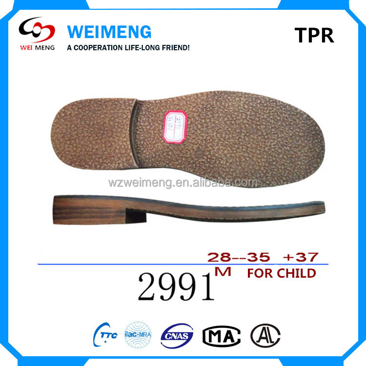 Shoe sole manufacturers expert Weimeng pure shoe outsole cork sole for ladies shoe making