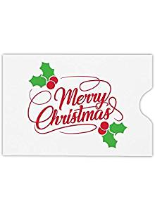 2 3//8 x 3 1//2 ID Cards and More! Gift Cards | Perfect for the HOLIDAYS 1801-GBHE-250 Debit Cards Credit Cards Credit Card Sleeve 250 Qty. - Happy Everything