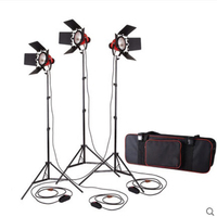 High Quality Dimmer Switch 3pcs 800W Studio Video Red head Lighting Kit + Bulb+Carry bag Photographic equipment Free shipping
