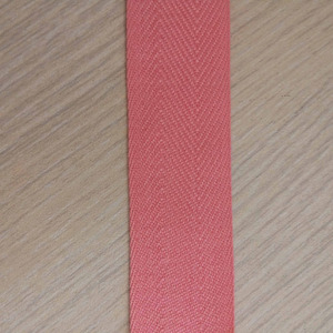 high quality cotton red herringbone tape for label