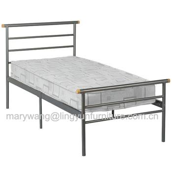 Essentials London Silver Metal Bed Frame - 3ft Single Bedstead ...