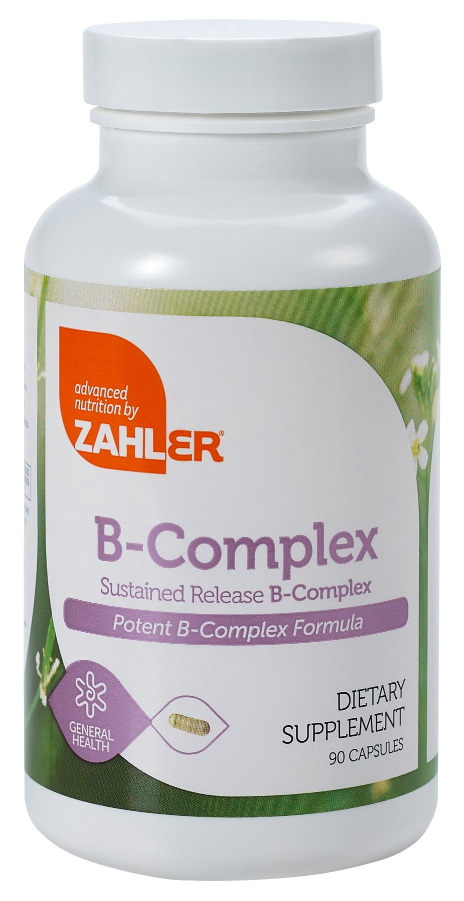 Zahler B Complex, All Natural Supplement Supporting Energy Production, #1 Pure and Potent B Complex Formula Containing all 8 Essential B Vitamins, Certified Kosher, 90 Capsules
