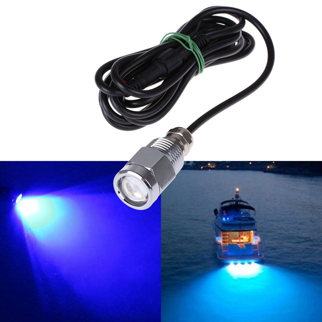 8pc New RGB Bluetooth LED Boat Lights with Bluetooth Controller,DIY,Music Mode 4 Pods Ip68 Water-Proof Marine Boat Drain Plug LED Light Underwater Lights Waterproof Yacht Boat Drain Plug Led Light