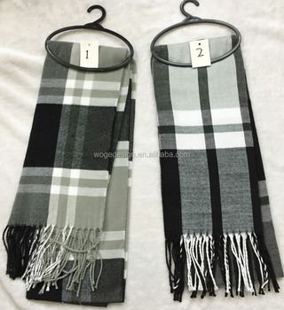 Fashion new stylish yiwu wholesale viscose tartan plaid men's scarfs