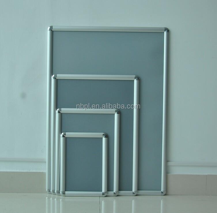 A1,A2,A3,A4,A5 Aluminio Plástico Ronda Corner Snap Marco Abierto ...