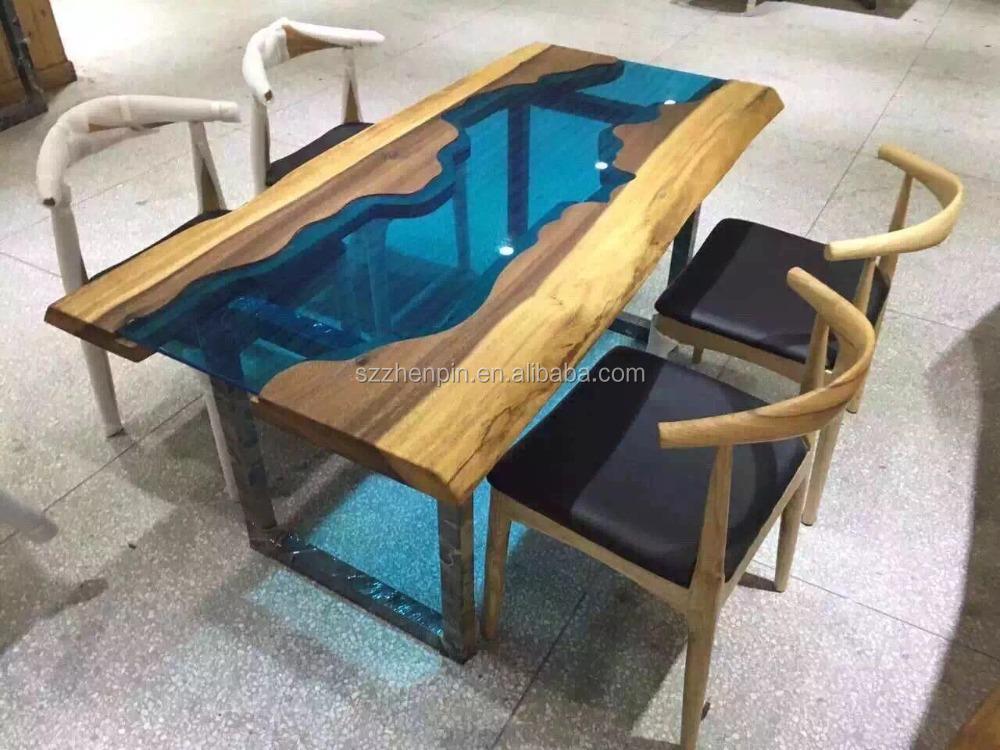 Tavolo da pranzo in legno massello glass intarsiato tavolo da ...